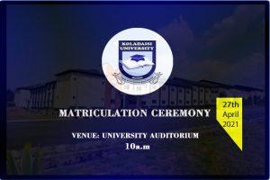 2021 matriculation ceremony